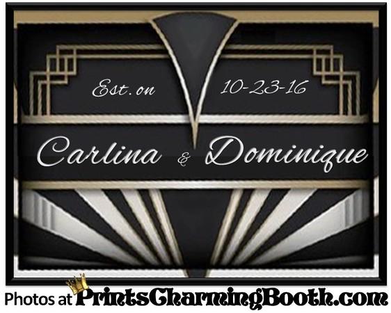 10-23-16 Carlina & Dominique Wedding logo ver 2