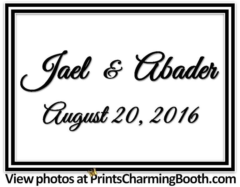 8-20-16 Jael and Abader Wedding logo
