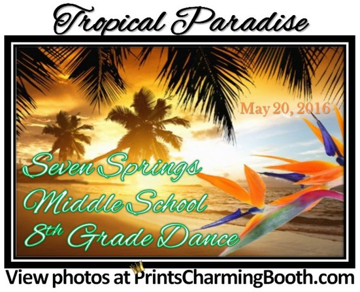 5-20-16 Seven Springs Middle School 8th Grade Dance Tropical Escape logo