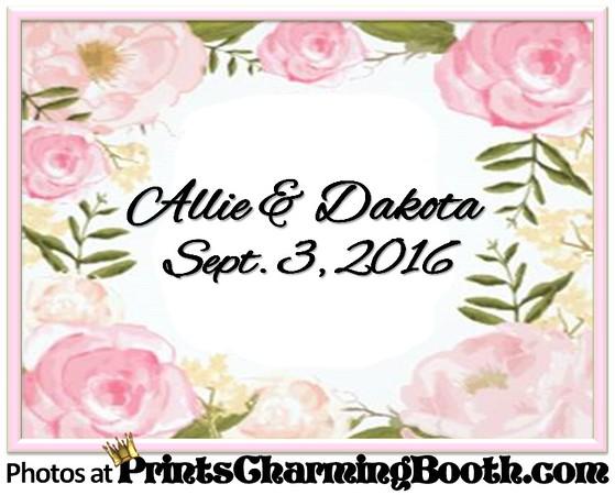 9-3-16 Allie & Dakota Wedding logo