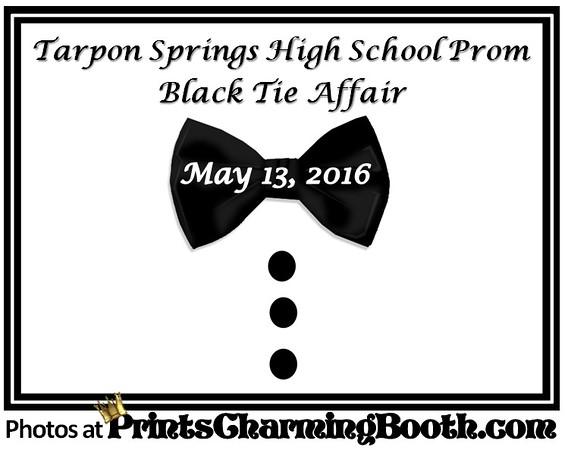 5-13-16 Tarpon Springs High School Prom Black Tie Affair logo