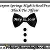 5-13-16 Tarpon Springs High School Prom Black Tie Affair logo