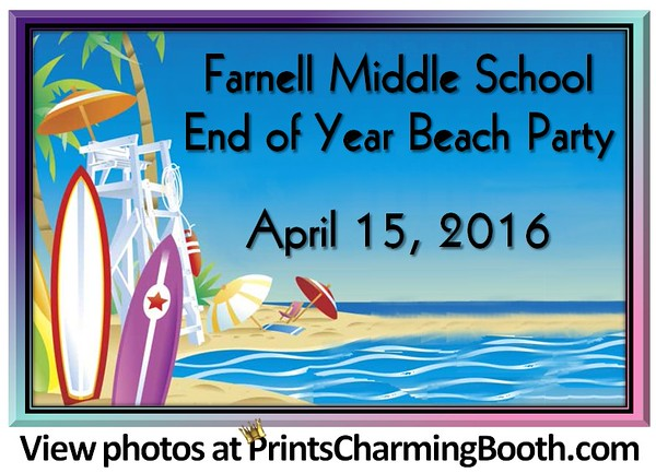 4-15-16 Farnell End of the Year Beach Party logo