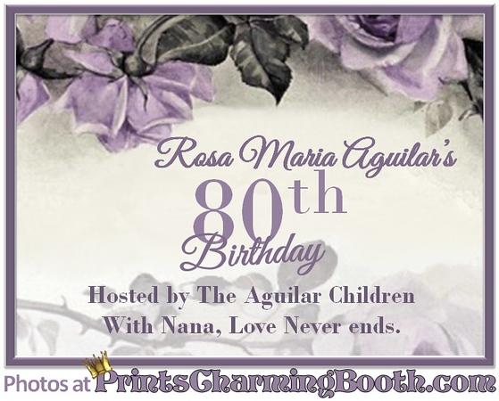1-14-17 Rosa Maria Aguilar's 80th Birthday logo