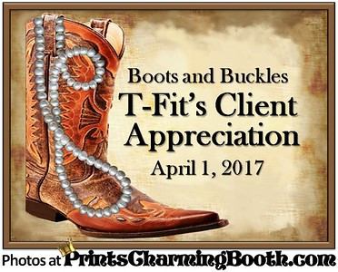 4-1-17 T-Fit Client Appreciation Boots and Buckles logo