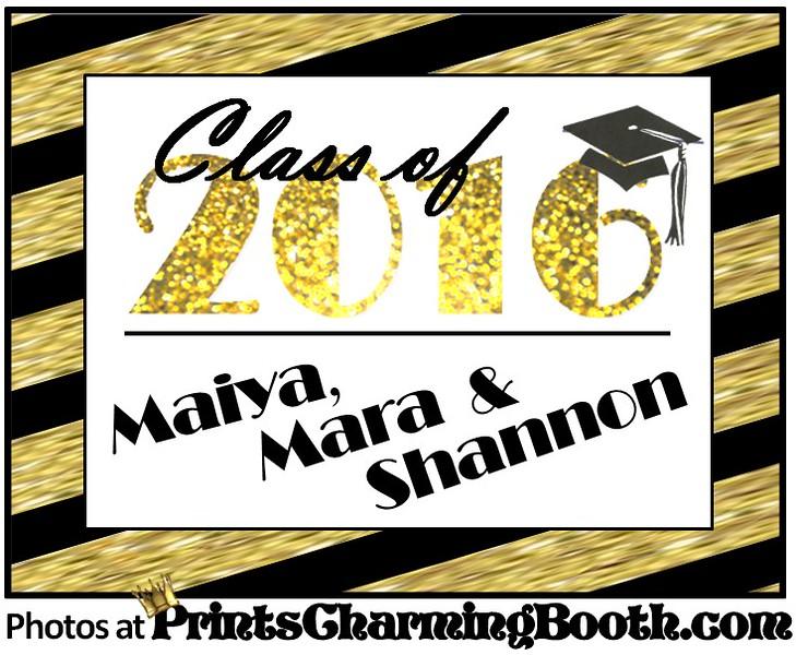 6-4-16 Maiya Mara and Shannon Graduation logo - REVISED