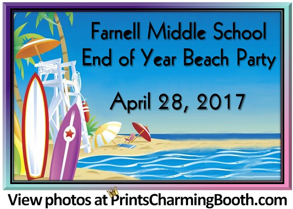 4-28-17 Farnell Middle School Beach Party logo