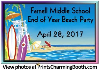 4-28-17 Farnell Middle School Beach Party logo