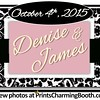 10-4-15 Denise and James Wedding logo - Ver  1