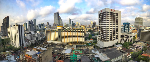 The view of Bangkok as seen from our hotel room