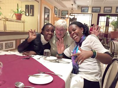 Zipporah, Cindy and Esther in Kenya