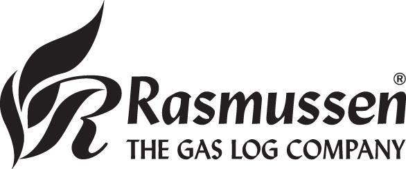 Rasmussen The Gas Log Company Logo - BW