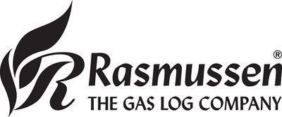 Rasmussen The Gas Log Company Logo - BW
