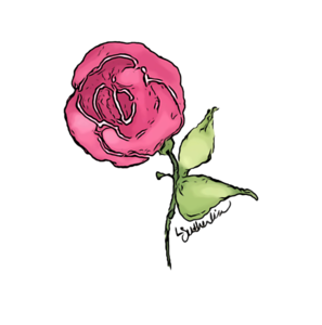 Watercolor Mini Knockout Rose Logo