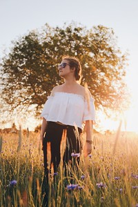Photo shoot during golden hour in someone's farm. Did I mention that this was taken at 10pm?