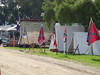 colors outside the tents are battle flags or flags for different divisions