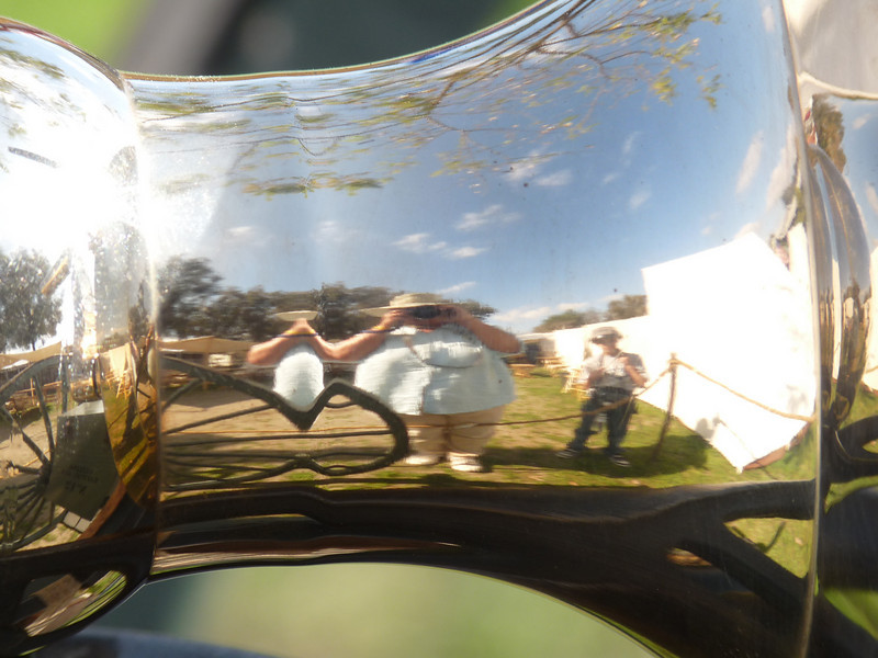 My sig shot, with Ace beside me.<br /> <br /> Guess what we are reflecting in?