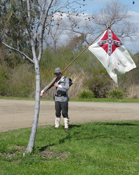 the standard bearer at the ready
