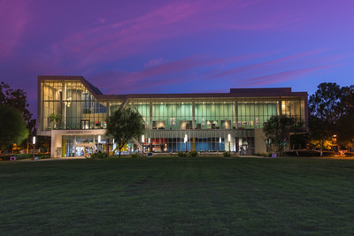 Loker Student Union at night on Cal State University Domingues Hills