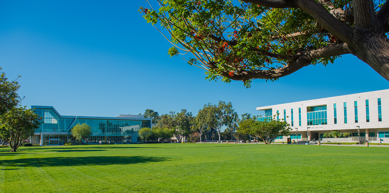 Cal State Dominguez Hills Campus after a storm in March 2016