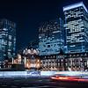 Tokyo Station by night