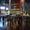 Tokyo (Shibuya) - Shibuya crossroad by rain