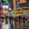 Shibuya under the rain