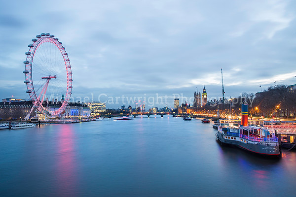 View from the Hungerford Bridge