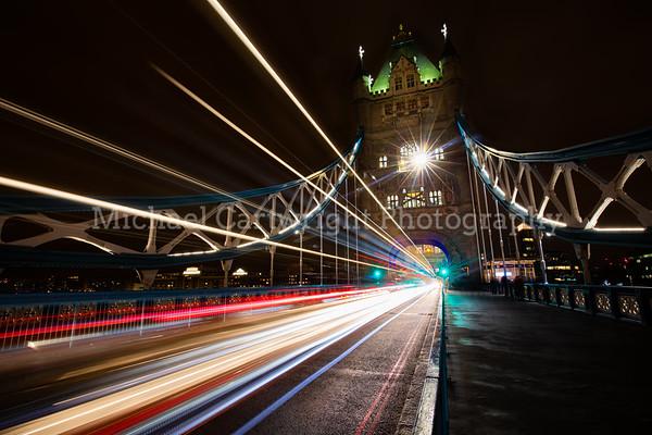 Traffic Trails on Tower Bridge