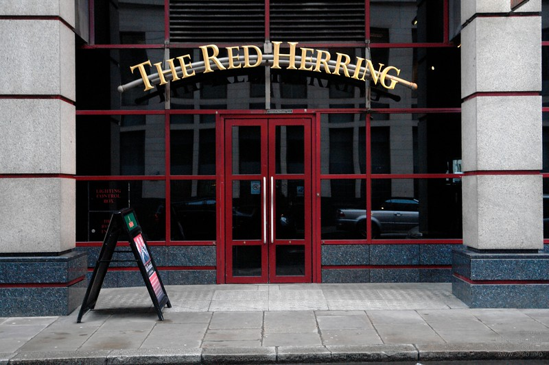 "Not misleading, just ""The Red Herring"". City of London."