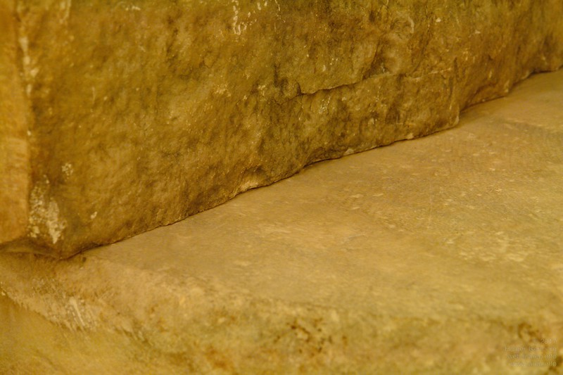 Detail of mortar free perfect joint.