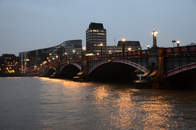 Lambeth Bridge at dusk