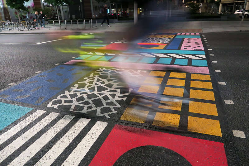 crossing painted near london bridge