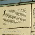 Roman Wall info - near the Tower
