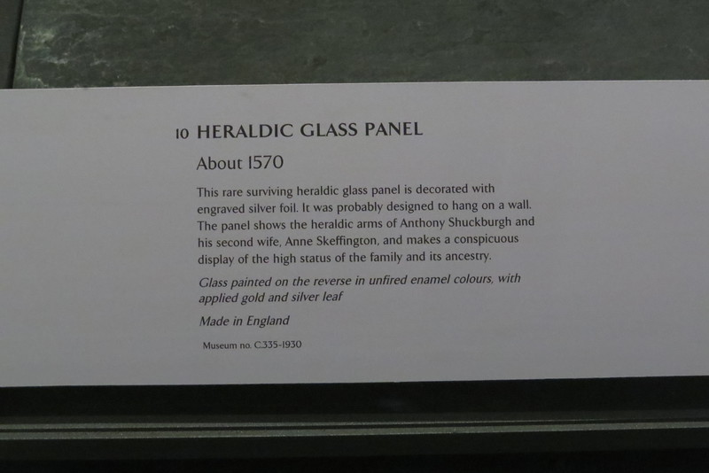 Heraldic Glass Panel C.335-1930 information page
