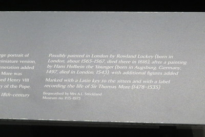 Panting of Sir Thomas More and Family P.15-1973 information card