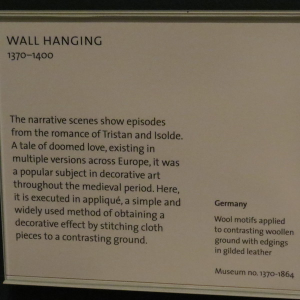 Tristan Wall Hanging 1370-1864 info card