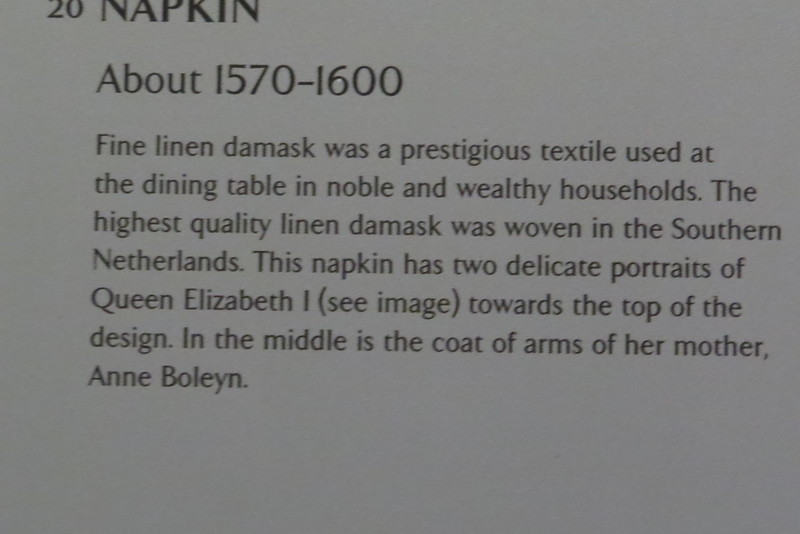Napkin T.215-1963 information card