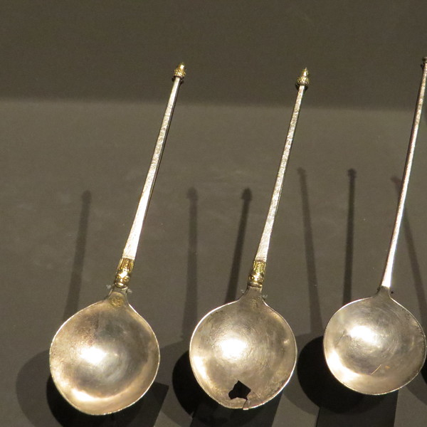 Spoons with acorn finials 110, 111-1865