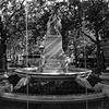 The Shakespeare Water Fountain in Leicester Square (b/w)