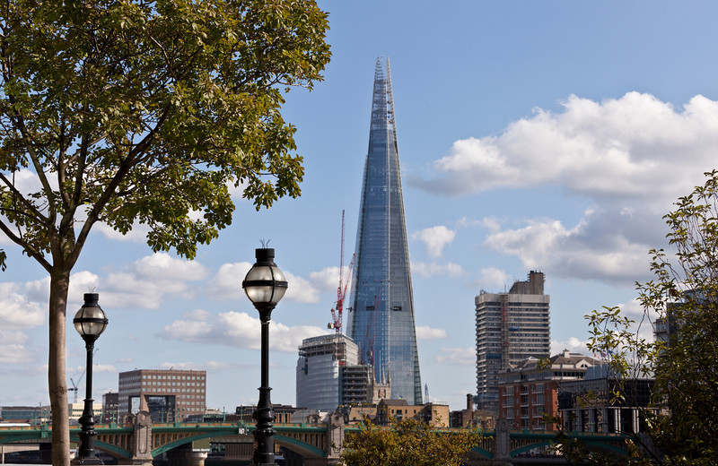 Southwark Bridge and The Shard.
