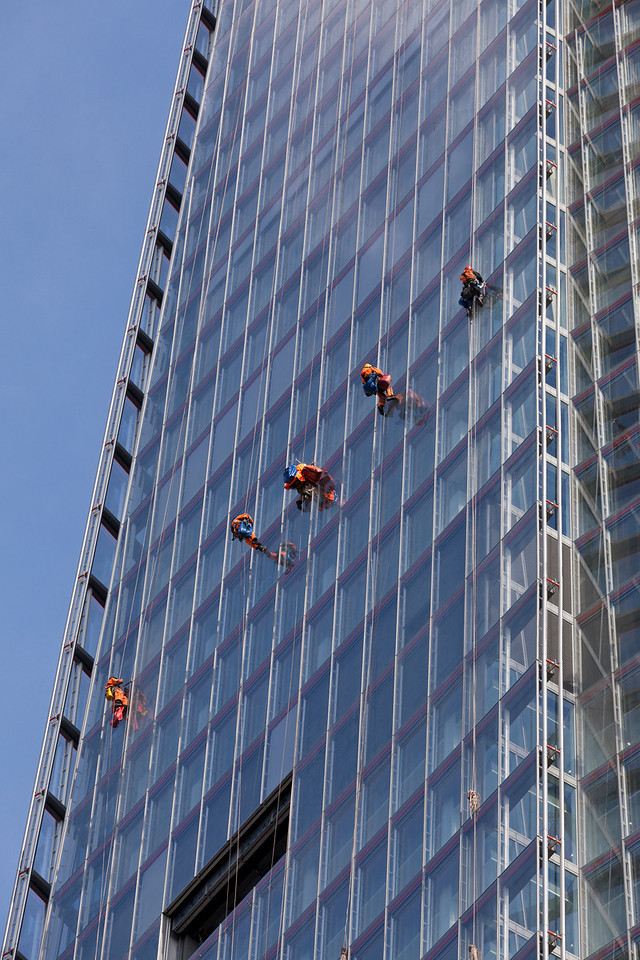 Cleaning the windows of The Shard