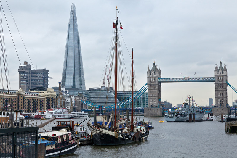 Boats, City Hall and The Shard