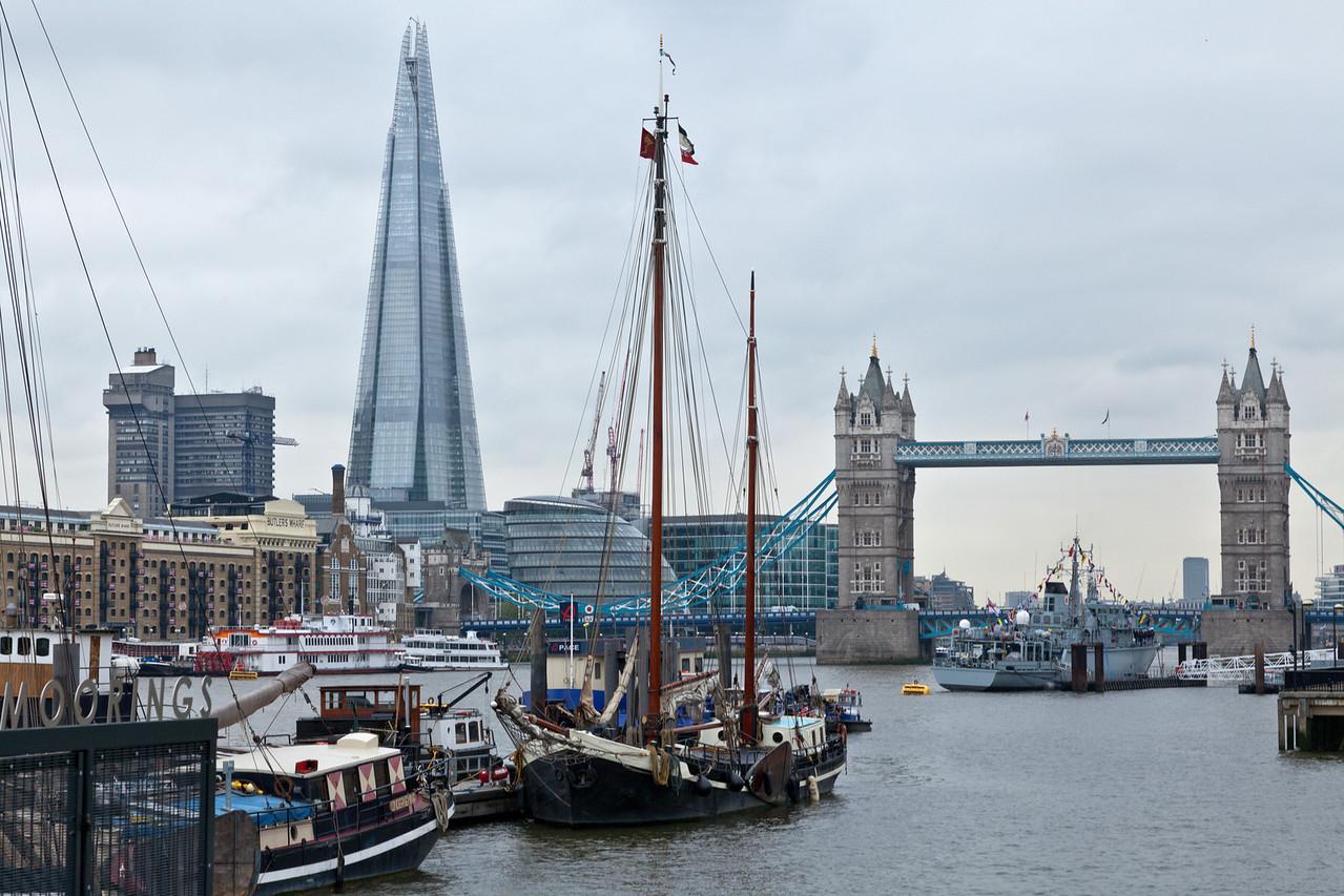 Boats, City Hall and The Shard