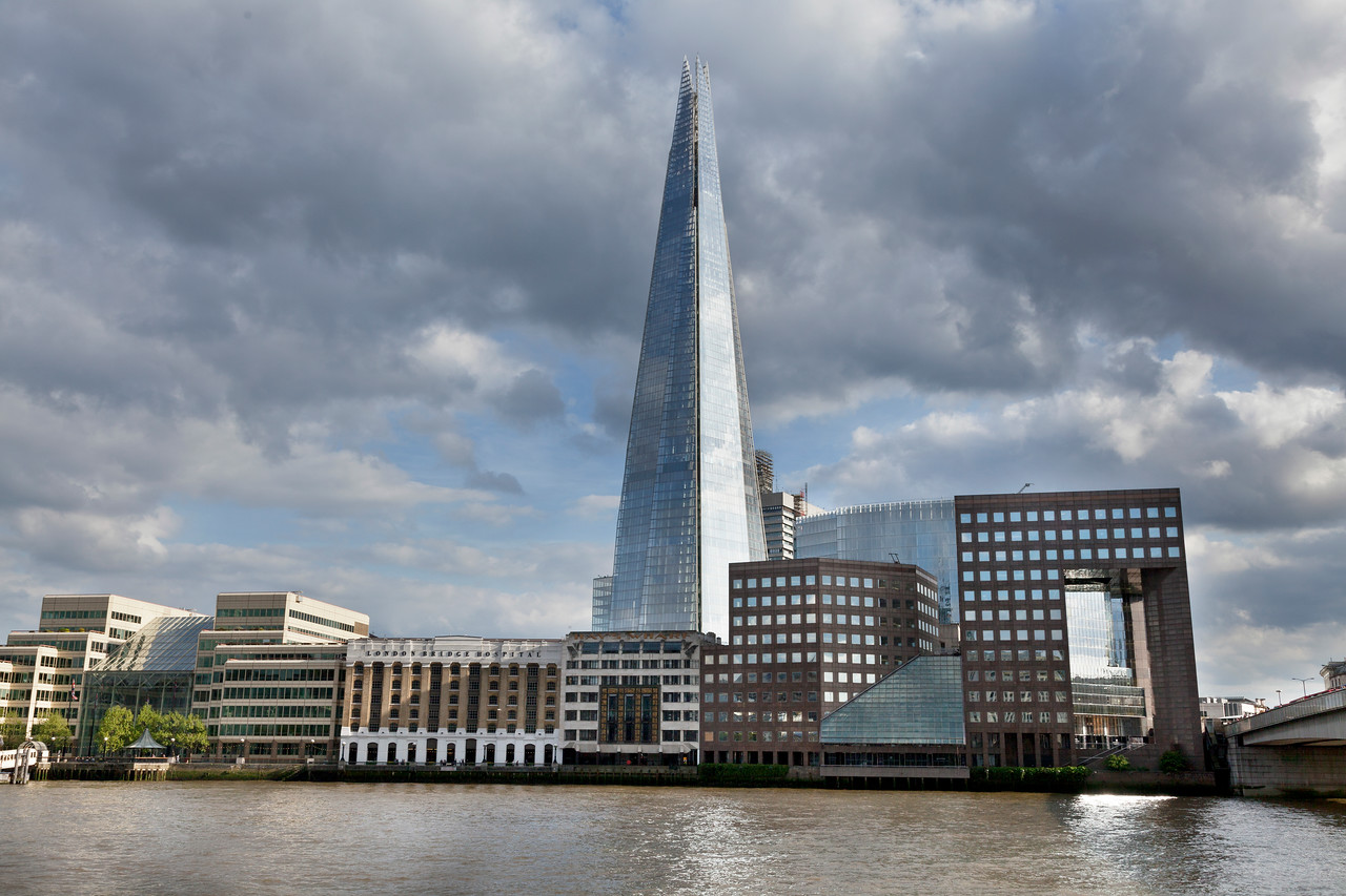 The Shard from North of the River Thames