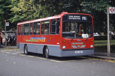 London Buses DW164 Haven Green London Sep 94
