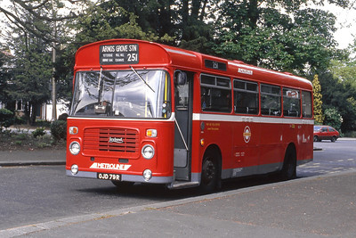 London Buses BL79 Stanmore Church London 1 May 89
