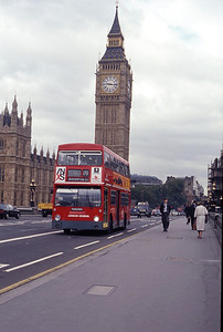 London Buses DM2539 Westminster Bridge London Sep 90