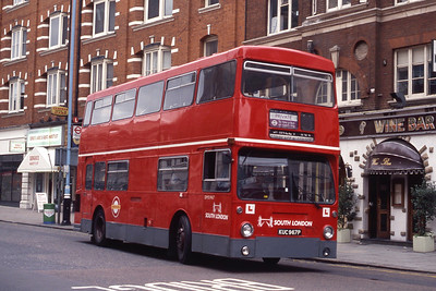 London Buses DM1967 Vauxhall Bridge Rd London Sep 90