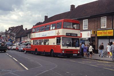 London Buses M463 Burnt Oak Station Edgeware Sep 90